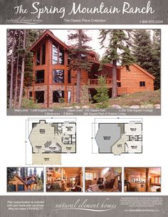 Switch the master and the other 2 bedrooms, add a balcony off the back for the master (now upstairs). Log Home Floor Plans, Cabin House Plans, Log Cabin Homes, Dream House Plans, Small House Plans, Log Cabins, Metal Building Homes, Building A House, How To Build A Log Cabin