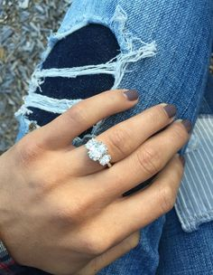Oval engagement ring with stacked accents. My glitter! - Oval engagement ring with stacked accents. My glitter! Engagement Ring Images, Wedding Engagement, Wedding Bands, 3 Diamond Engagement Rings, Oval Wedding Rings, Oval Shaped Engagement Rings, Morganite Engagement, Oval Rings, Engagement Bands