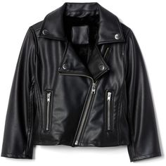 Faux leather moto jacket (€61) ❤ liked on Polyvore featuring outerwear, jackets, leather jacket, rider jacket, vegan moto jacket, leather look jackets, biker jackets and vegan leather jacket