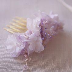 Peigne Violette Vraies Fleurs Stabilisées : Accessoires coiffure par asami-fleur