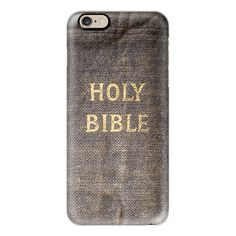 iPhone 6 Plus/6/5/5s/5c Case - Holy Bible ($40) ❤ liked on Polyvore featuring accessories, tech accessories, iphone case, slim iphone case, apple iphone cases and iphone cover case