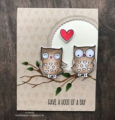 "MFT ""I'm Owl Yours"" Memory Box ""Woodland Branch"" 