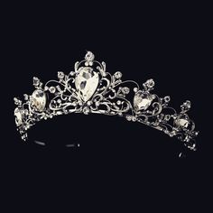 """The Elizabeth"" Antique Rhodium Silver/Gold Tiara – Sweet Heart Details"