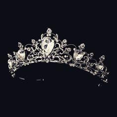 """The Elizabeth"" Antique Rhodium Silver/Gold Tiara – Sweet Heart Details"