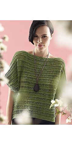 Ravelry: Drop Stitch Top pattern by Patons