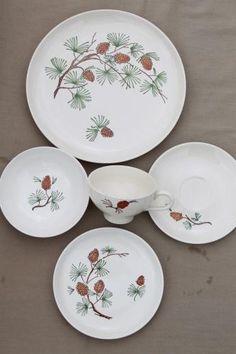 hampton home pine cone dinnerware   Pine Cone Dishes   China ...