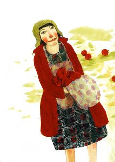 Anne Herbauts : Trondheim, Collage Drawing, Michel, Book Illustration, Concept Art, Toms, High Neck Dress, Illustrator, Drawings