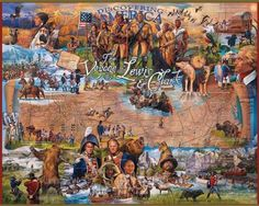 White Mountain Puzzles The Voyage of Lewis and Clark - 1000 Piece Jigsaw Puzzle