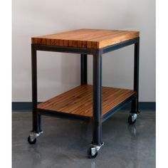 Rolling Baking Cart For Mixer And Supplies::Vintage Industrial Butcher  Block Table Cart