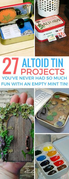 These altoid tin projects are so much fun! I really want to make that fish pond! - These altoid tin projects are so much fun! I really want to make that fish pond! These altoid tin p - Tin Can Crafts, Diy Crafts To Sell, Diy Crafts For Kids, Fun Crafts, Sell Diy, Kids Diy, Decor Crafts, Save On Crafts, Craft Ideas