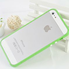 Ultrathin Candy Colored Silicone + PC Bumper Case Protective Frame for iPhone 5-Watermelon