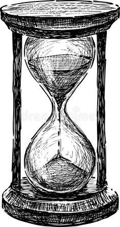 Illustration about Vector sketch of an old hourglass. Illustration of hourglass, white, ancient - 35901361 Clock Drawings, Pencil Art Drawings, Art Drawings Sketches, Art Sketches, Hourglass Drawing, Hourglass Tattoo, Drawings Pinterest, Art Du Croquis, Arte Sketchbook