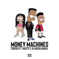 "Tshego delivers the official audio for his new collaboration with Nasty C & Nadia Nakai, 'Money Machines'. The ""Money Machines"" snippet been all over via ZASound. Nigeria Africa, Money Machine, Music Industry, Debut Album, New Music, Rap, Music Videos, Family Guy"