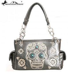 WESTERN CONCHO HANDBAG - PEWTER Pewter, Westerns, Shoulder Bag, Purses, Montana, Bags, Collection, Tin, Handbags