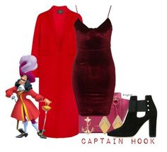 Captain Hook (Peter Pan) by claucrasoda on Polyvore featuring polyvore fashion style Glamorous Maje Salvatore Ferragamo Swarovski clothing oversizedcoats