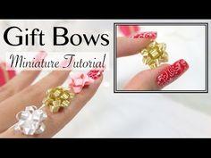 DIY Miniature Gift Bow Ribbon Tutorial - YouTube