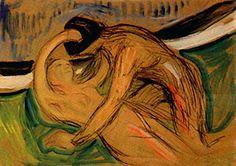 #Edward Munch, #art, #expressionism  http://www.edvard-munch.com/Paintings/love/cupido_3.jpg