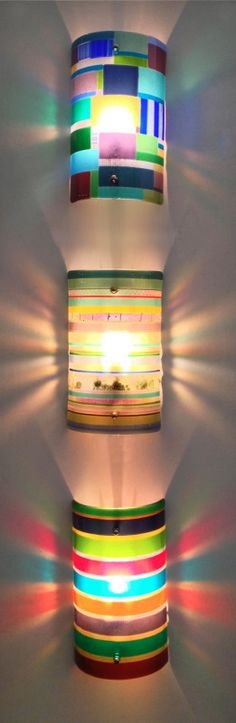 Glass wall lamp lighting.