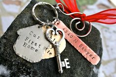 Our New Home/Our First Home  Hand Forged  Key to by CharmsofFaith, $34.00