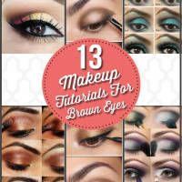 Brown the most ordinary of all eye colors and certainly the most fun to paint!    Check them out all of these amazing tutorials here!  Choose from the13 Of The Best Eyeshadow Tutorials For Brown Eyes! Enjoy browsing! 1. Gold Smokey Eye Makeup Tutorial viapampadour     2. Electric blue