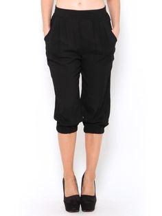 Banded Capri Harlem Pants
