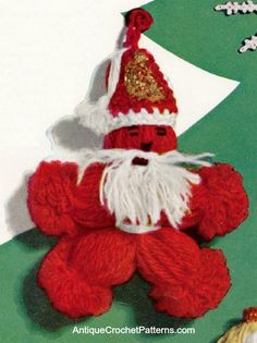 Crochet Santa Claus - Free Crochet Pattern - This santa clause ornament is a great Christmas decoration for your home - so simple to make - not long does it take!