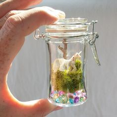 Whimsical Ways: Mini DIY Unicorn Terrarium More