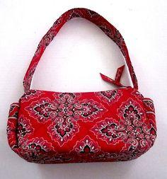 a6da0a70d44 Vera Bradley Frankly Scarlet Bag Purse Red Retired Rare EUC  VeraBradley