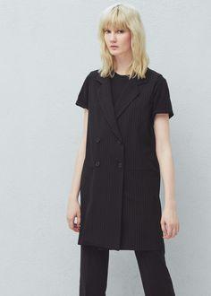 Pinstripe suit waist