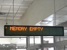 """""""Memory Empty"""""""
