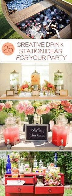 25 Creative Drink Station Ideas for Your Party! by nell
