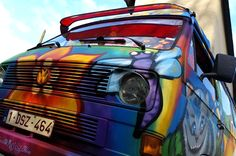 Graffiti beschilderde voertuigen campers caravans kinderkamers
