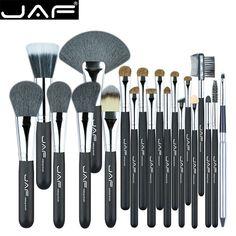 JAF 20 Pcs/Set Brushes for Face Eye Lip Makeup Natural Hair Makeup Brush Set Professional Make Up Tools Kits J2001PY-B