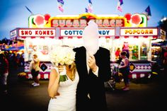 Newlyweds photo shoot at the Minnesota State Fair, photographed by DnK Photography