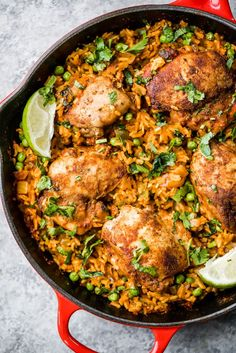 One Pan Tandoori Chicken with Spiced Coconut Rice Tandoori chicken made in one pan with a savory spiced yellow coconut rice. This global flavored recipe is perfect for meal prepping or serving for a weeknight dinner! Healthy Recipes, Healthy Meal Prep, Cooking Recipes, Milk Recipes, Spanish Food Recipes, Delicious Recipes, Tasty, Cuban Recipes, Yogurt Recipes