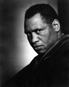 """Paul Robeson (1898-1976), the int'l known actor, singer, athlete (football), scholar, and political activist made his New York professional acting debut as the lead in O'Neill's All God's Children Got Wings (1924). Two years later he presented a one-man concert of spirituals and Nego """"work songs"""" at N.Y.'s Town Hall. In 1928, while living in England (1927-1939) he was cast as Joe, the stevedore who sings """"Old Man River,"""" in the London production of Jerome Kern and Oscar Hammerstein's Show…"""