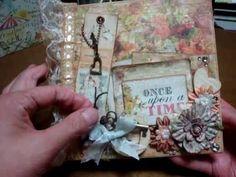 I still don't know what shabby chic is(^_^;) 6×6 Flip flap mini album paper Prima Romantique collection