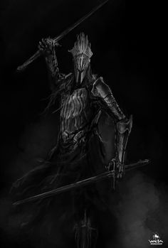 """The reappearance of the Ringwraiths in the Hobbit offered a fantastic opportunity to revisit these iconic characters. Unlike the previously depicted """"Black Riders"""" these designs explored the Ringwraith's origins as Kings of Men. Each Ringwraith needed to feel unique to the cultural realm they once ruled, but unified in their corruption of sprit as servants of Sauron. © 2012 Warner Bros. Entertainment Inc. and Metro-Goldwyn-Mayer Pictures Inc. Images courtesy of Weta Workshop"""