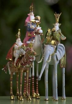 Patience Brewster's Ornaments - Magi on Animals