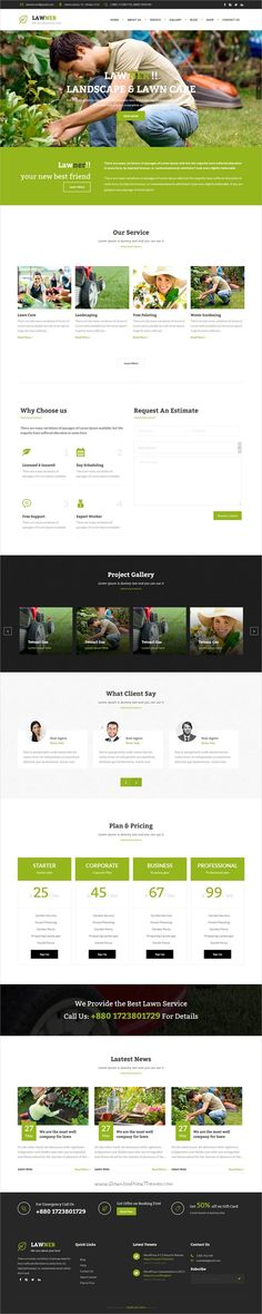Lawner is a wonderful 3in1 responsive #WordPress theme specially for #Lawn Services, #Agriculture, Landscape Architects, Gardening, Landscaping Companies websites download now➩ https://themeforest.net/item/lawner-gardening-and-landscaping-wordpress-theme/16526624?ref=Datasata