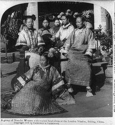 A group of Manchu women, Qing Dynasty.