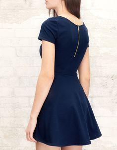 Basic dress with zip, simple but a little bit daring.