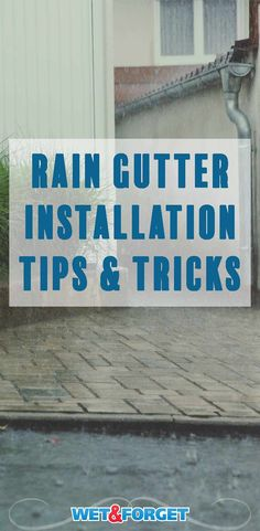 Rain gutters are essential because they protect the exterior of your home. Read on to learn about available gutter drainage options, plus information on proper gutter installation, slope, downspouts and more. House Gutters, Diy Gutters, Copper Gutters, Rain Gutter Installation, Painting Gutters, Rain Gutter Cleaning, Gutter Drainage, How To Install Gutters, Up House