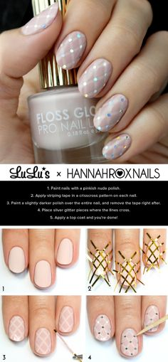 Nude Quilted Nail Tutorial - 15 Best Beauty Tutorials for Winter 2014-2015 | GleamItUp