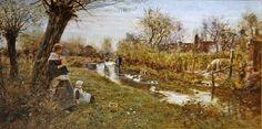 Watching the Ducks, 1890 -  Thomas James Lloyd