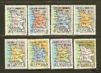 Stamps from Angola from before 1975
