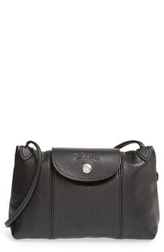 Longchamp 'Le Pliage - Cuir' Crossbody Bag