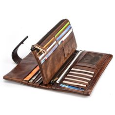 325f0160b7 RFID Genuine Leather Casual 18 Card Slot Wallet Retro High Capacity Clutch  Bags For Men sales at a wholesale price. Come to Newchic to buy a wallet,  ...