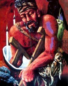 Babalú ayé , San lázaro art by O. Voodoo, Babalu Aye, Erzulie Freda, Yoruba Orishas, Yoruba Religion, African Art Paintings, Butterfly Party, Black Image, Urban Art