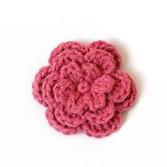 This would be a perfect hair bow or made intoba headband for Madison! Free Pattern, thanks so for share xox . Direct link here if no Ravely: http://crochetingthedayaway.blogspot.co.uk/2014/01/three-layer-flower-pattern.html xox